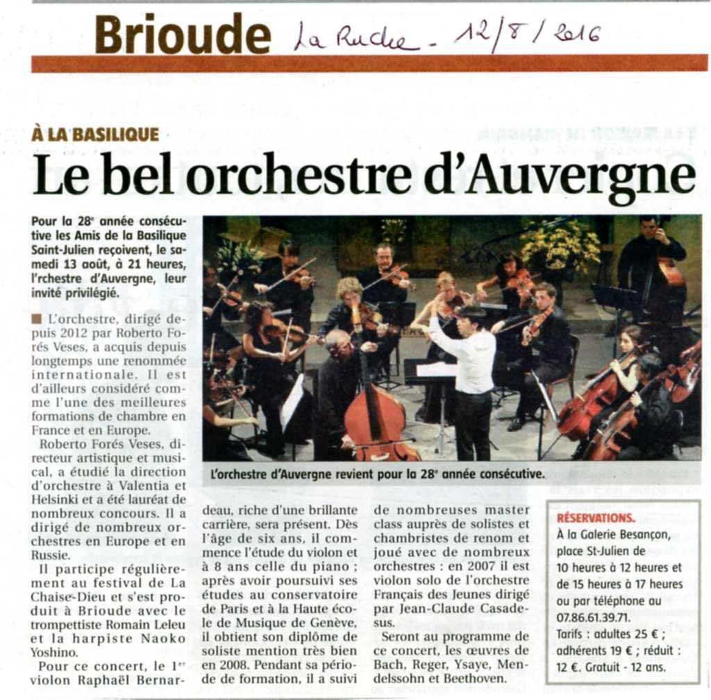 article La Ruche 12/8/2016