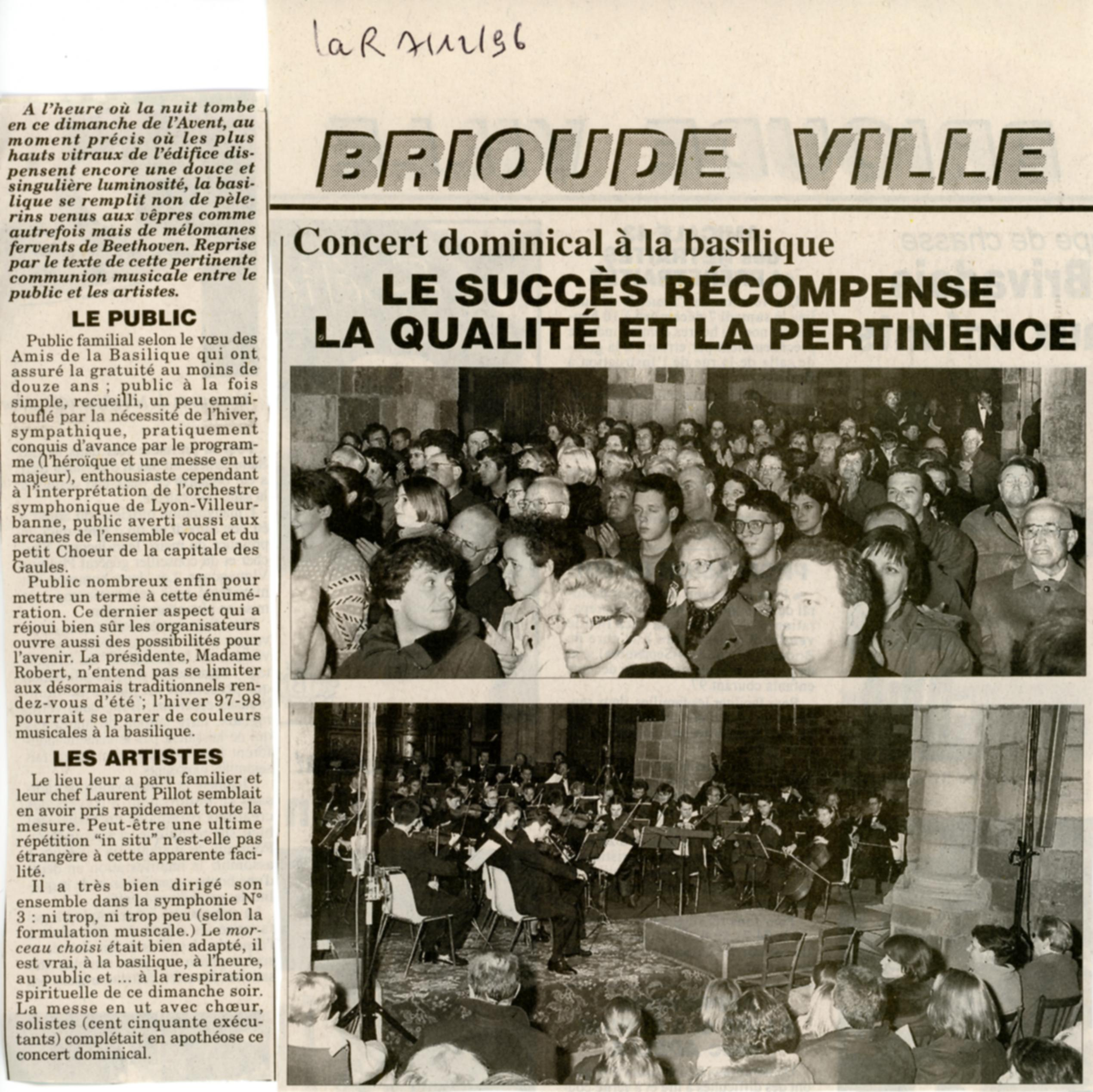 la ruche 7 d cembre 1996 les amis de la basilique saint julien de brioude. Black Bedroom Furniture Sets. Home Design Ideas